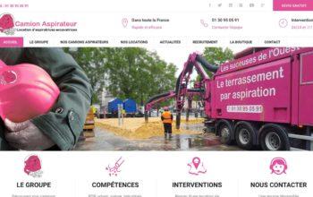 Nouveau site Internet camion aspirateur est en ligne