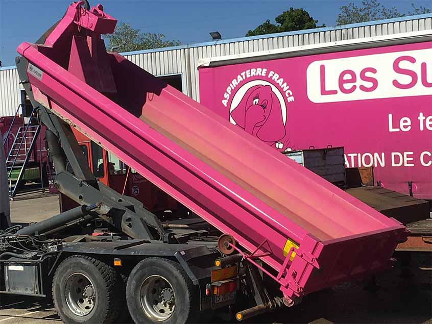 pinkbox benne recyclage beton