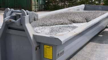 benne recyclage beton